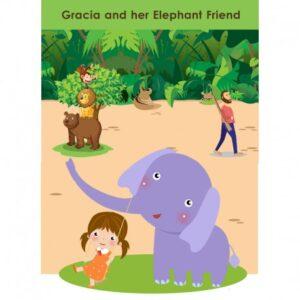 Gracia and her elephant friend